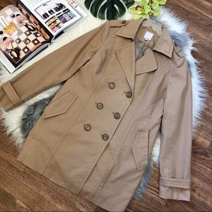 Nordstrom Halogen Tan Double Breasted Trench Coat